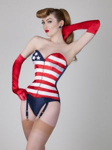 Red white and blue lingerie
